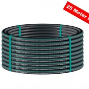 Green black rainwater pipe 25mm x 25m