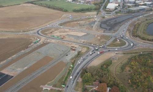 M1 Junction 13 Balfour Beatty site compound