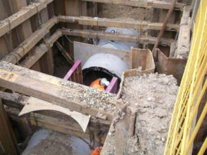 Sewer diversion for a large railway project