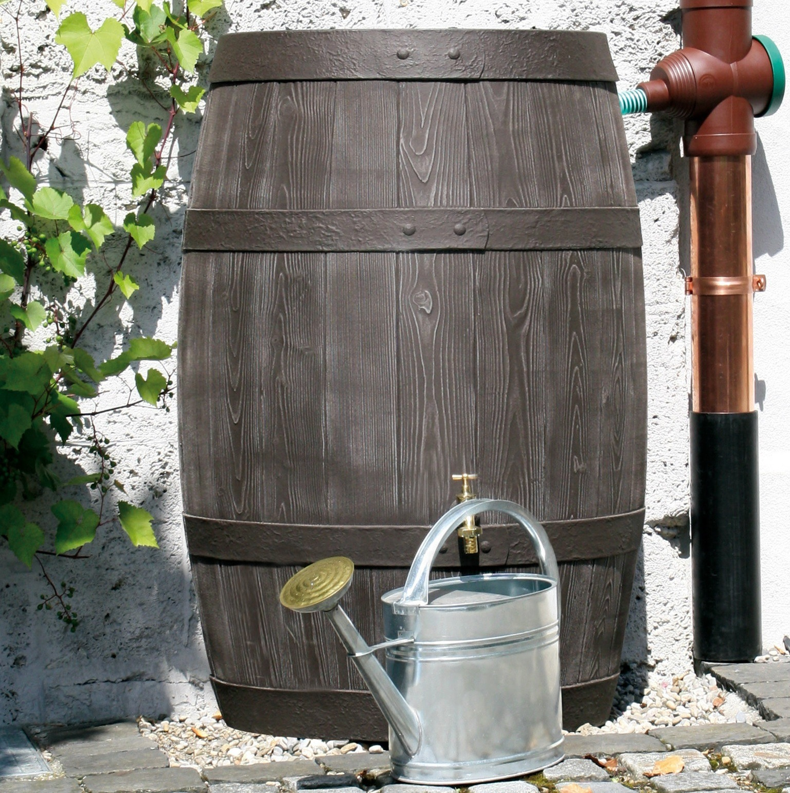 Wooden Effect Barrel Water Butt 500l Buy Now Owls Hall