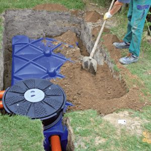Below Ground Garden Rainwater Harvesting Systems